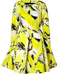 Kenzo Mountain Print Fit and Flare Dress - Lyst