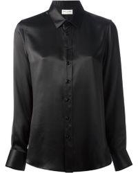Saint Laurent Black Fitted Shirt - Lyst