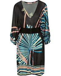 Matthew Williamson Belted Jersey Mini Dress - Lyst