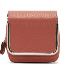 Carven Pink and Silver Leather Pouch - Lyst