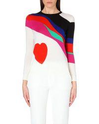Alexander McQueen Heart-Motif Wool Jumper - Lyst