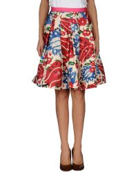 Oscar de la Renta Knee Length Skirt - Lyst