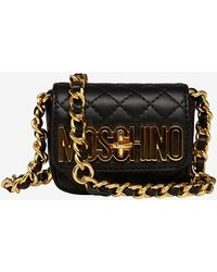 Moschino Mini Belted Fanny Pack Black - Lyst