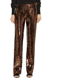 Marc Jacobs Sequined Straight-leg Pants - Lyst