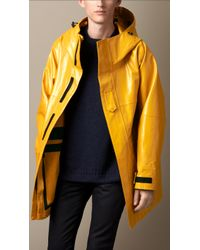 Burberry Seam-Sealed Rubberised Cotton Parka - Lyst