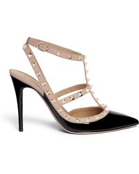 Valentino 'Rockstud' Caged Patent Leather Pumps - Lyst
