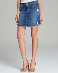 James Jeans  Daisy Cutoff Skirt - Lyst