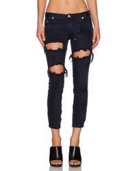 One Teaspoon Freebird Super-Slim Low-Rise Stretch-Denim Jeans - Lyst