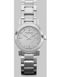 Burberry Stainless Steel Check Dial Watch - Lyst