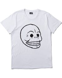 Cheap Monday T Shirt With Skull Print - Lyst