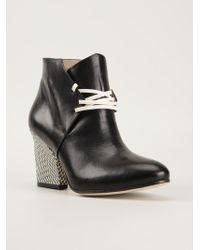Atalanta Weller - Blush Lace Up Heels Boots - Lyst