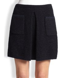 Thom Browne Box-Pleat Knit Tweed Skirt - Lyst