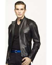 Ralph Lauren Black Label Café Biker Jacket - Lyst