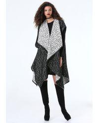 Bebe - Mina Draped Coat - Lyst