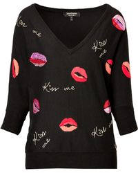 Juicy Couture Flirty Lips Pullover - Lyst