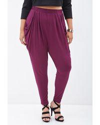 Forever 21 Knit Harem Pants F21 Plus Size - Lyst