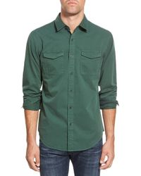 Eddie Bauer 'stonebridge - Ilaria Urbinati Collection' Trim Fit Military Sport Shirt - Green