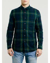 Topman Ltd Everest Tartan Dot Shirt - Lyst