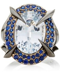 Tito Pedrini One Of A Kind Light Blue Sapphire Ring