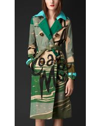 Burberry Book Cover-Print Trench Coat - Lyst