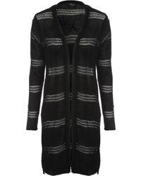 Jane Norman | Long Line Fancy Knit Cardigan | Lyst