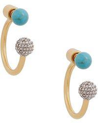 Rachel Zoe - 'kyra' Double Sphere Drop Back Earrings - Lyst