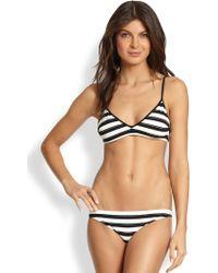 Chloé Twopiece Striped Bikini Set - Black