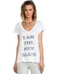 Local Celebrity - Jovi New Black Tee - Lyst