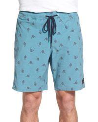 Volcom | 'shakacarpal' Print Hybrid Shorts | Lyst