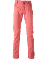 Jacob Cohen Pink Chino Trousers - Lyst