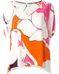 Diane von Furstenberg Printed Loose Fit Top - Lyst