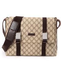 Gucci Beige Crossbody Bag - Lyst