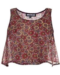 House of Holland Sequin-Floral Trapeze Crop-Top - Lyst