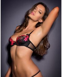 Agent Provocateur | Brianna Bra Black And Pink | Lyst