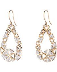 Diamonds Unleashed - #shesbrilliant Diamond Open-hoop Earrings - Lyst