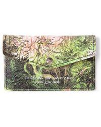Carven Jungle Print Card Holder - Green