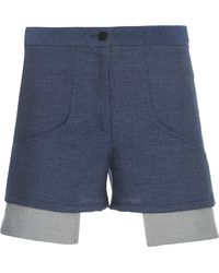 Sally Lapointe | Waxed Cotton Short | Lyst