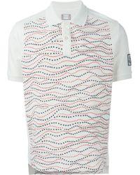 Moncler Gamme Bleu Star Print Polo Shirt - Lyst