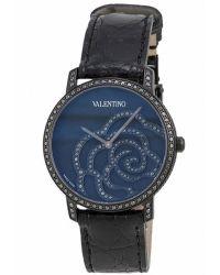 Valentino - Womens Matte Black Dial Black Crocodile Leather - Lyst