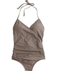 J.Crew Halter Wrap One-Piece Swimsuit - Lyst