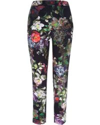 River Island Green Floral Print Cigarette Pants - Lyst