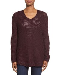 Dex - Oversize V-neck Sweater - Lyst