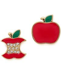 Marc By Marc Jacobs Apple Stud Earrings Cambridge Red - Lyst