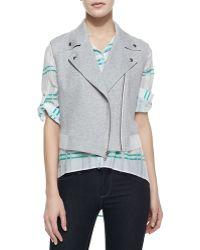 Waverly Grey - Brooklyn Sheer-Detail Moto Vest - Lyst