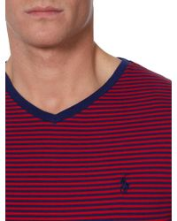 Polo Ralph Lauren Classic Fine Stripe V-Neck T-Shirt - Lyst