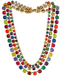 Erickson Beamon Splash Gold-Plated Crystal Necklace - Lyst