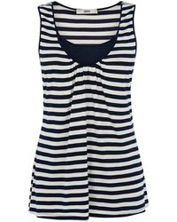 Oasis Stripe Ll Double Layer Vest Top - Lyst