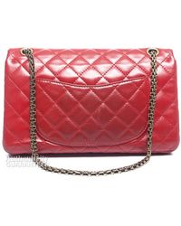 Chanel Pre-owned Red Lambskin Reissue 226 Flap Bag - Lyst