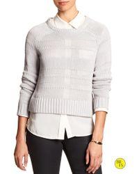 Banana Republic Factory Open-Weave Sweater - Lyst