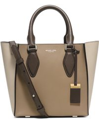 Michael Kors | Gracie Small Colorblock Leather Tote | Lyst